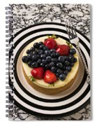 Cheese Cake On Black And White Plate Spiral Notebook