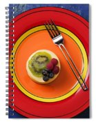 Cheesecake On Plate Spiral Notebook