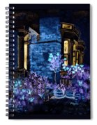 Chelsea Row At Night Spiral Notebook
