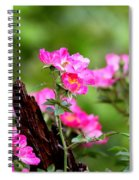 Cherokee Rose Card - Flower Spiral Notebook