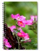 Cherokee Rose Card - Flower Spiral Notebook