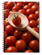 Cherry Tomatoes And Wooden Spoon Spiral Notebook