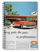 Chevrolet Ad, 1957 Spiral Notebook
