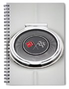 Chevy Gas Cap Silver Emblem Spiral Notebook