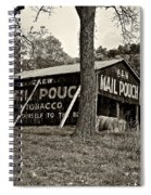 Chew Mail Pouch Sepia Spiral Notebook