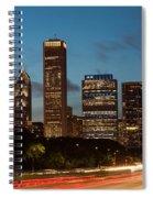 Chicago Business District At Dusk Spiral Notebook