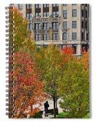 Chicago In Autumn Spiral Notebook