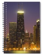 Chicago Skyscrapers With John Hancock Spiral Notebook