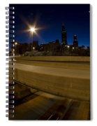 Chicago's Spaghetti Bowl Interchange At Dawn Spiral Notebook