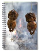 Chickens Roasting On Open Pit Fire Spiral Notebook