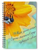 Child Birthday Greeting From Parent Parents - Cosmos And Bumblebee Spiral Notebook
