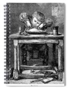 Child Eating, 1875 Spiral Notebook