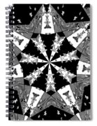 Children Animals Kaleidoscope Black And White Spiral Notebook