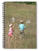 Children Collecting Insects Spiral Notebook
