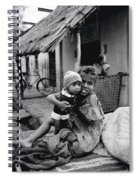 Children In Agra In India Spiral Notebook