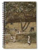 Children Outside A Cottage Spiral Notebook