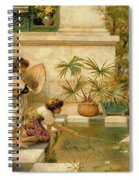 Children Playing With Boats Spiral Notebook
