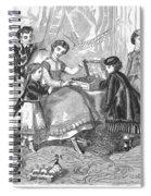 Childrens Fashion, 1868 Spiral Notebook