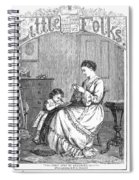 Childrens Magazine, C1885 Spiral Notebook
