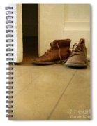 Child's Shoes By Open Door. Spiral Notebook