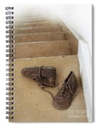 Child's Shoes By Stairs Spiral Notebook