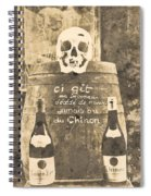 Chinon Wine  Spiral Notebook