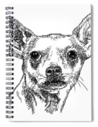 Chiwawa-portrait-drawing Spiral Notebook