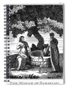 Christ & Woman Of Samaria Spiral Notebook