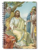 Christ And His Disciples Spiral Notebook