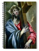 Christ Clasping The Cross Spiral Notebook