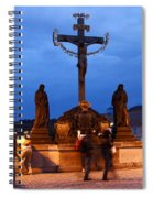 Christ Crucifixion Sculpture Spiral Notebook