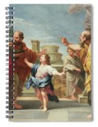 Christ Preaching In The Temple Spiral Notebook