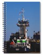 Christiana Oil Tanker Sitting In Galveston Tx Spiral Notebook