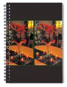 Christmas Arrangement - Gently Cross Your Eyes And Focus On The Middle Image Spiral Notebook