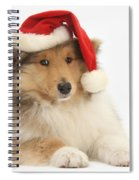 Christmas Collie Pup Spiral Notebook