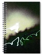 Christmas Dove Emerging Spiral Notebook