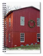 Christmas Eve At Williston Mill Spiral Notebook