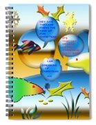 Christmas Fish Tank Spiral Notebook