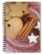 Christmas Gingerbread Spiral Notebook