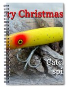 Christmas Greeting Card - Gibbs Darter Vintage Fishing Lure Spiral Notebook