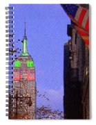 Christmas In New York Spiral Notebook