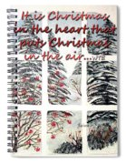 Christmas In The Heart Spiral Notebook