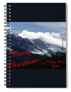 Christmas In The Mountains Spiral Notebook