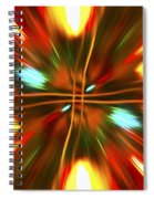 Christmas Light Abstract Spiral Notebook