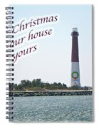 Christmas Lighthouse Card - From Our House To Yours Card Spiral Notebook