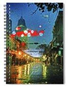 Lights At 3 Georges In Mobile Al Spiral Notebook