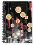Christmas Lights In Alicante Spiral Notebook