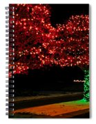Christmas Lights Red And Green Spiral Notebook
