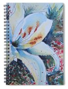 Christmas Lily Spiral Notebook