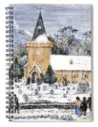 Christmas Morning, 1837 Spiral Notebook